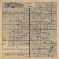 [Map of Clark and Wood Counties with a portion of Marathon County, Wisconsin]