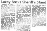 Lucey backs sheriff's stand