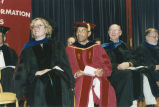 Faculty members at 2000 graduation ceremony