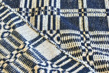 Coverlet detail: edge and reverse