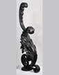 Wrought iron newel post, Cyril Colnik, Milwaukee, late nineteenth or early twentieth century.