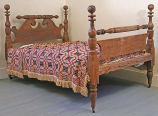 Bedframe marked by Thomas Moses, Milwaukee, probably ca. 1835-1860.