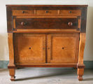 Sideboard used by Werning family, North Prairie, Waukesha County, ca. 1880.
