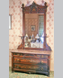 Chest of drawers and washstand retailed by Mitchell Furniture Co., St. Louis, ca. 1879.