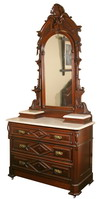 Chest of drawers and washstand, Matthews Brothers, Milwaukee, 1871.