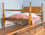 Maple bedframe, probably Dunn County, mid-nineteenth century.