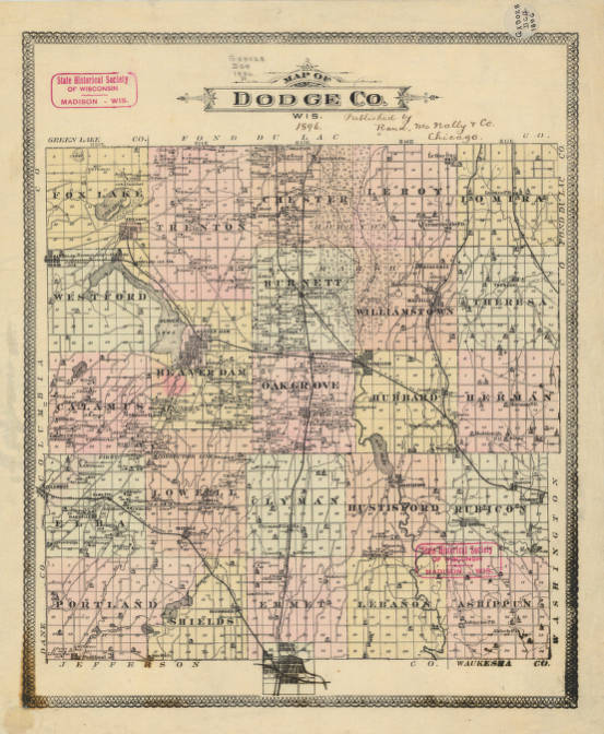 Map of Dodge Co., Wis. - Maps and Atlases in Our Collections ... Dodge County Wi Map on columbia co wi map, rock county wi map, fond du lac county wi map, falls marinette county wi map, dunn county snowmobile map, fond du lac, kenosha county, dane county, door county wi map, rock county, vernon county, la crosse, racine county, florence county wi map, town of dunn wi map, door county, city of racine wi map, iron ridge map, monroe county, wisconsin map, marinette county, jefferson county wi map, columbia county, milwaukee county, washington county, dane county wi map, menominee county wi map, sauk prairie wi map, kewaunee county townships map, south central wi map, jefferson county, columbia county wi map, washington county wi map, grant county, green lake wi map, waukesha county, beaver dam,